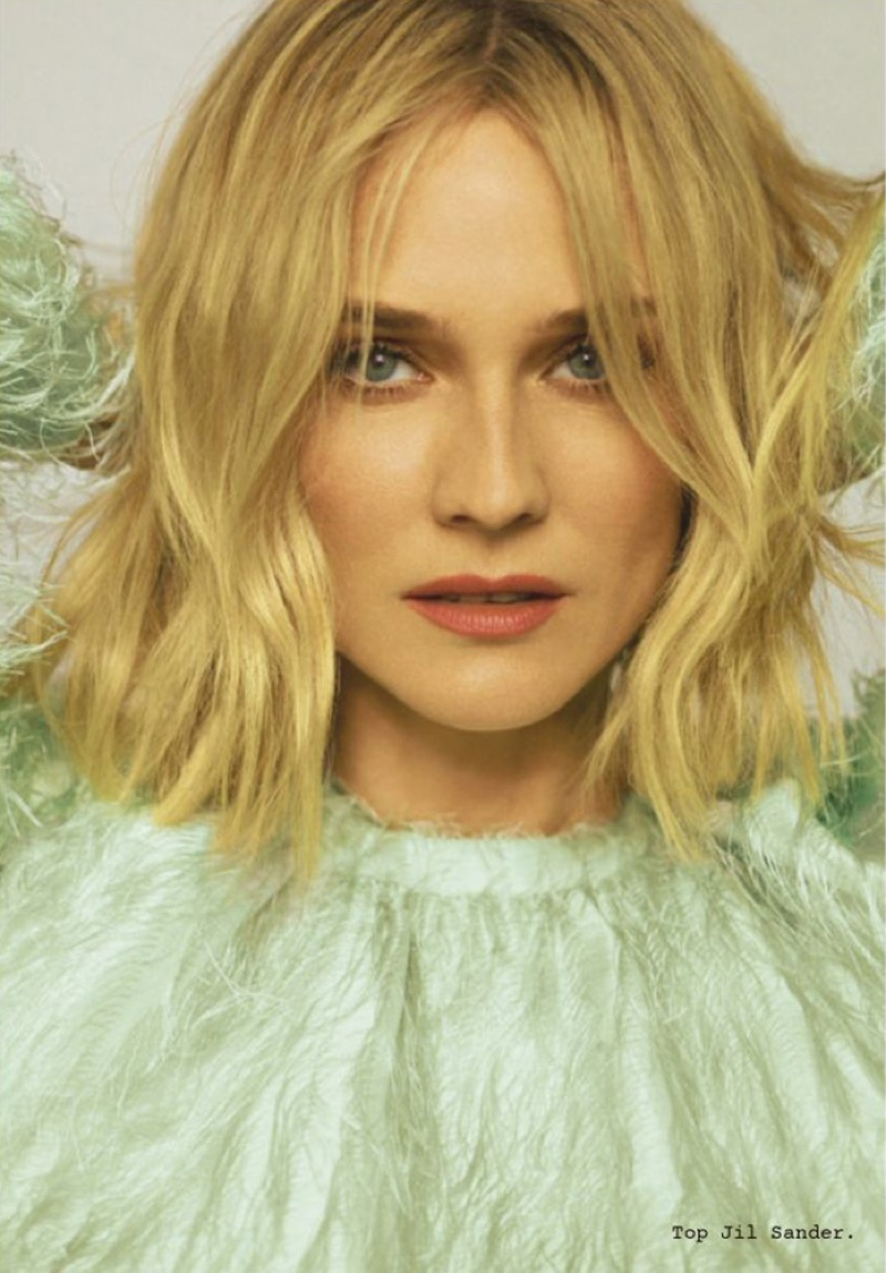 Actress Diane Kruger poses in Jil Sander top