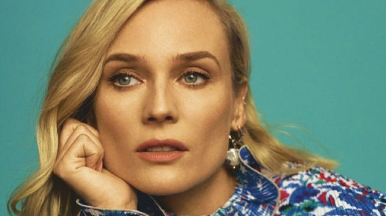 Looking elegant, Diane Kruger wears Givenchy earring and dress