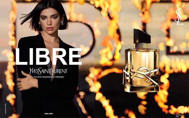 Singer Dua Lipa fronts Yves Saint Laurent Libre fragrance campaign
