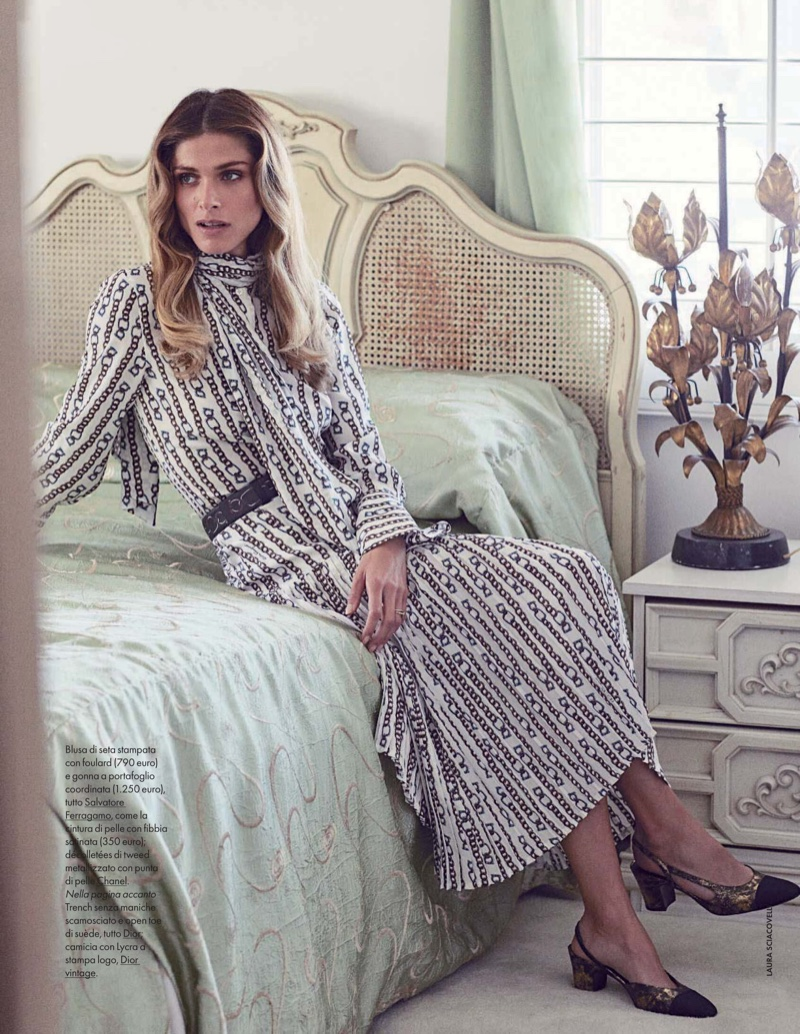 Elisa Sednaoui Poses in 70's Inspired Looks for ELLE Italy