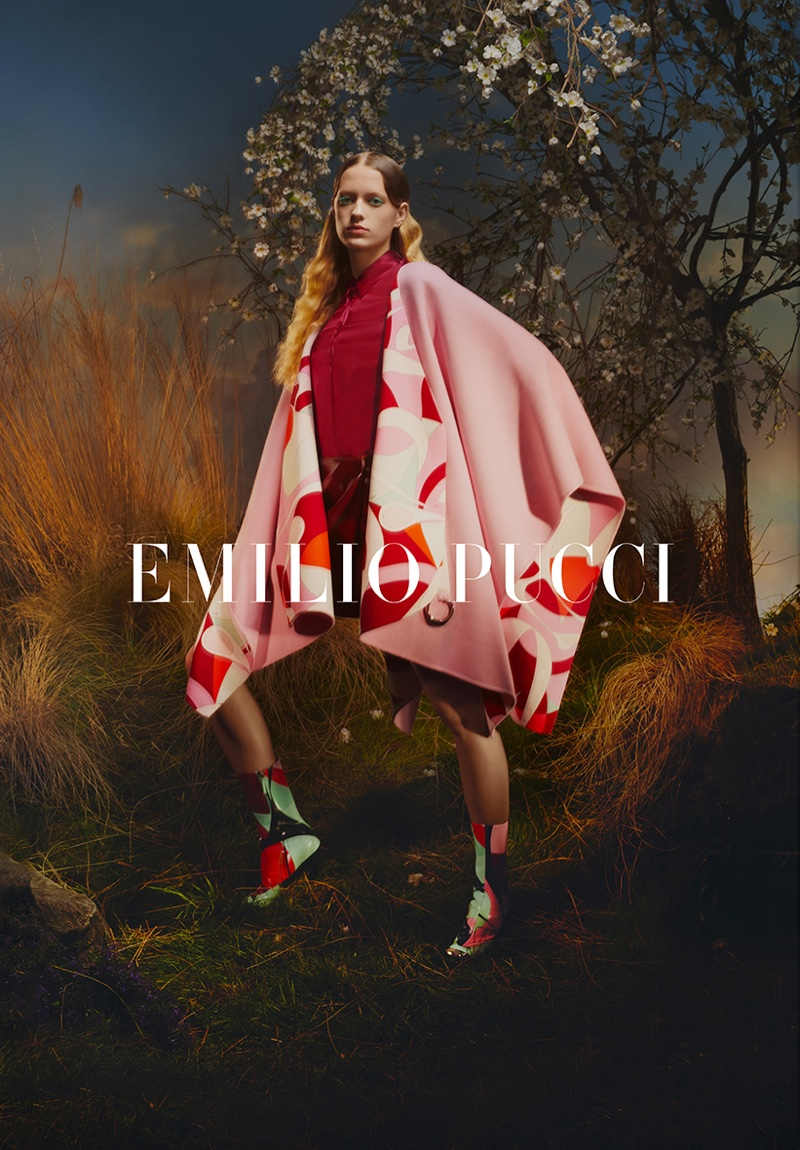 Kat Carter fronts Emilio Pucci fall-winter 2019 campaign