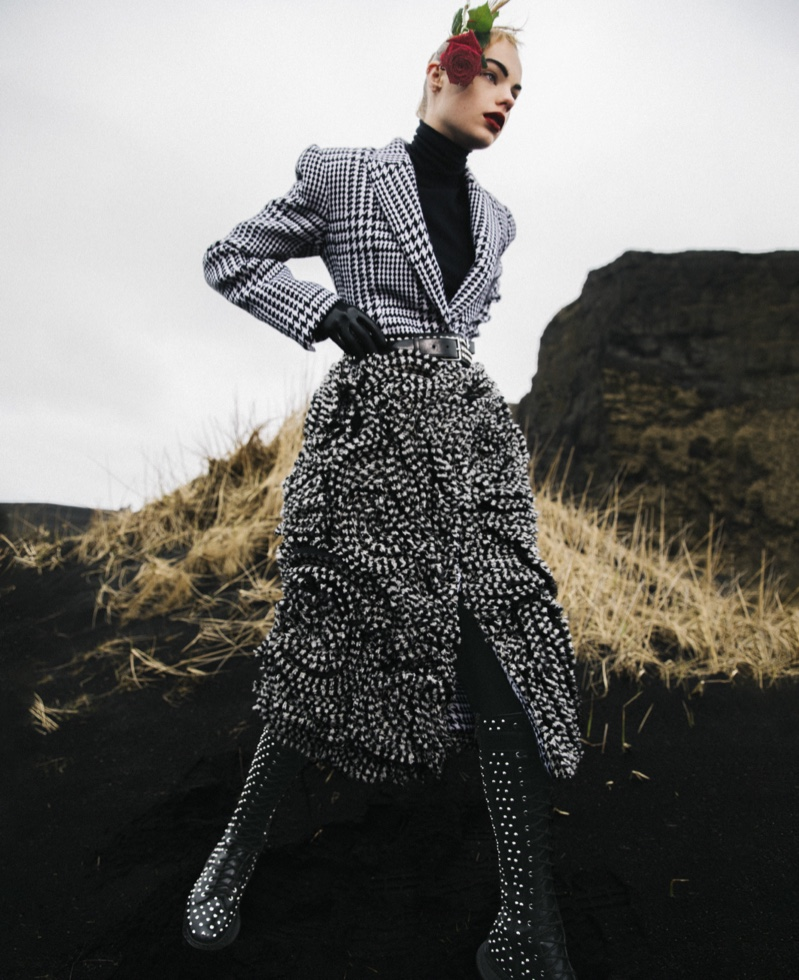 Estella Boersma Layers Up in Standout Outerwear for ELLE