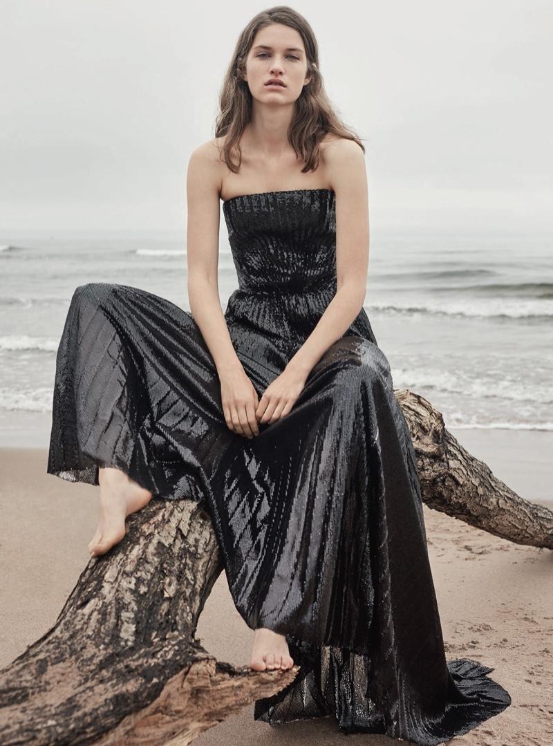Femke Huijzer Goes Elegant at the Beach for Harper's Bazaar UK