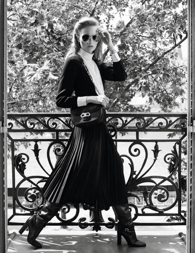 Fran Summers Captivates in Celine Designs for Vogue Paris