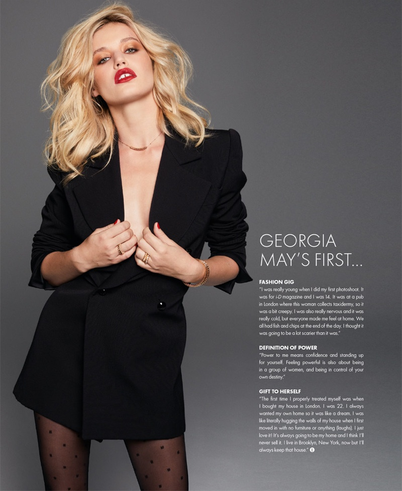 Georgia May Jagger Poses in Cool Looks for ELLE Singapore