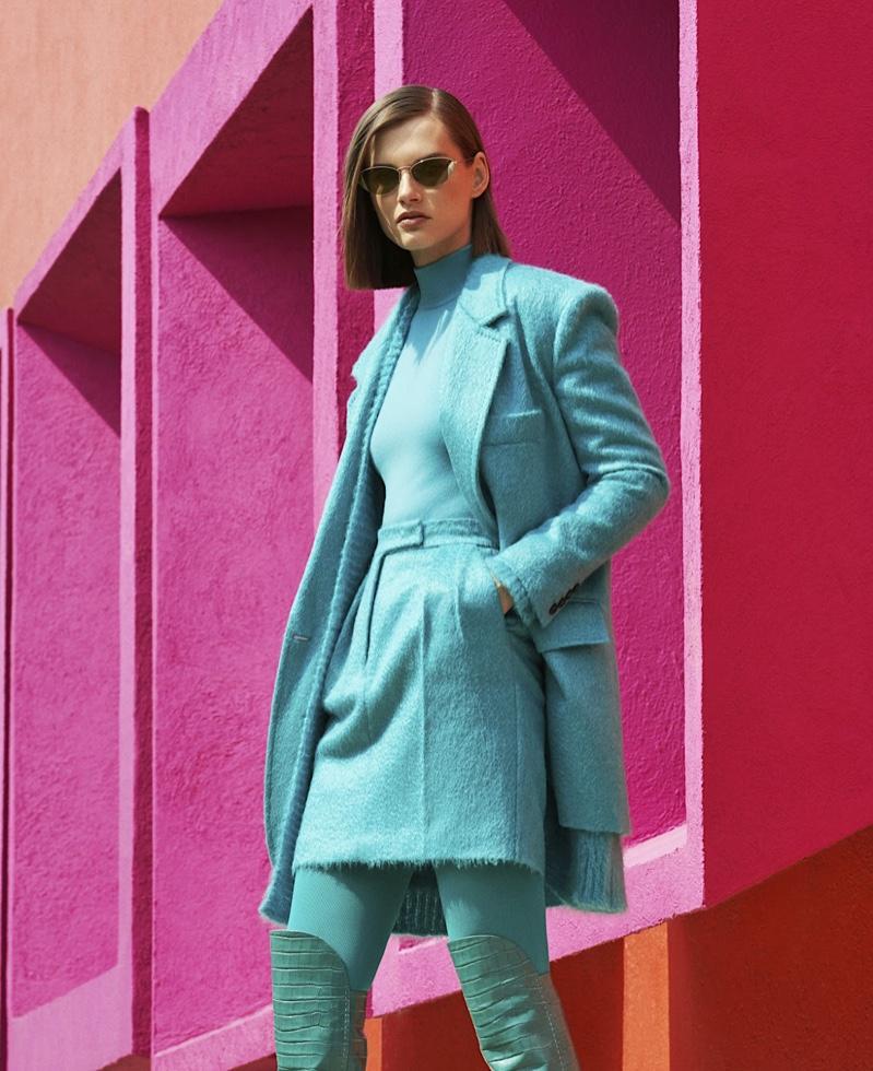 Giedre Dukauskaite Takes On New Season Brights for Harper's Bazaar