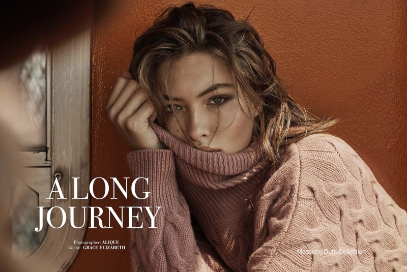 Grace Elizabeth stars in Massimo Dutti A Long Journey fall-winter 2019 editorial