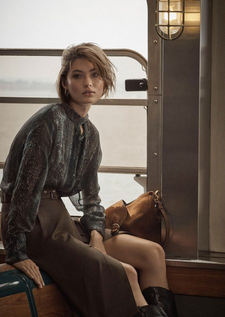 Grace Elizabeth fronts Massimo Dutti A Long Journey fall-winter 2019 editorial