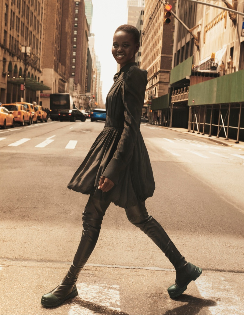 Adut Akech is all smiles in H&M Studio fall-winter 2019 campaign