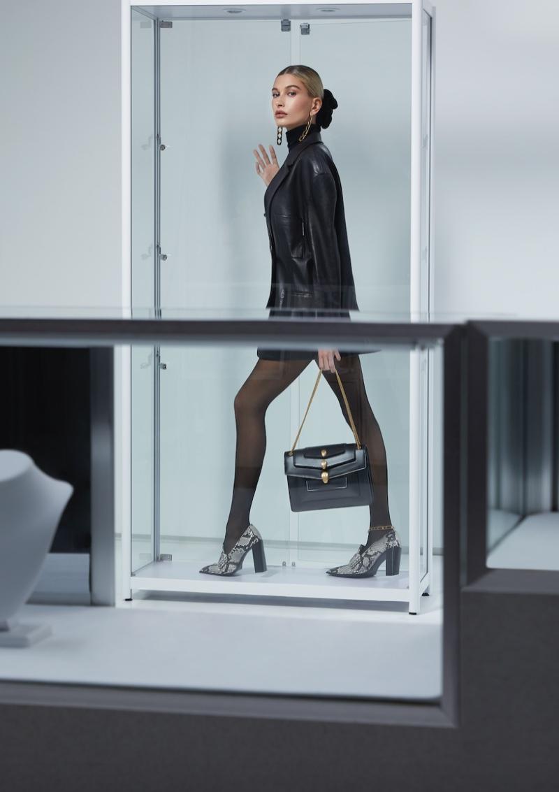 Alexander Wang x Bulgari taps Hailey Baldwin for handbag campaign
