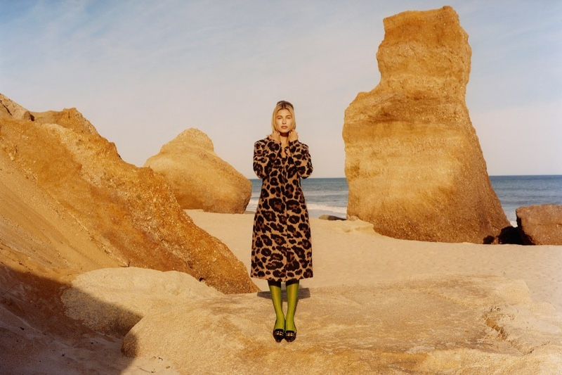 Hailey Baldwin Poses in Americana Styles for W Magazine