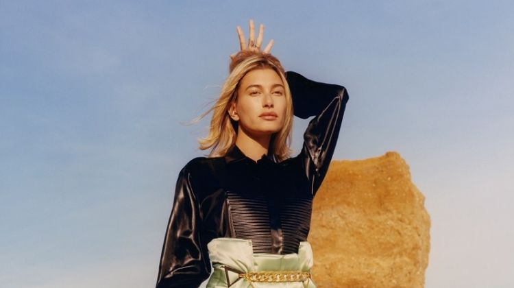 Hailey Baldwin Poses in Americana Styles for W Magazine
