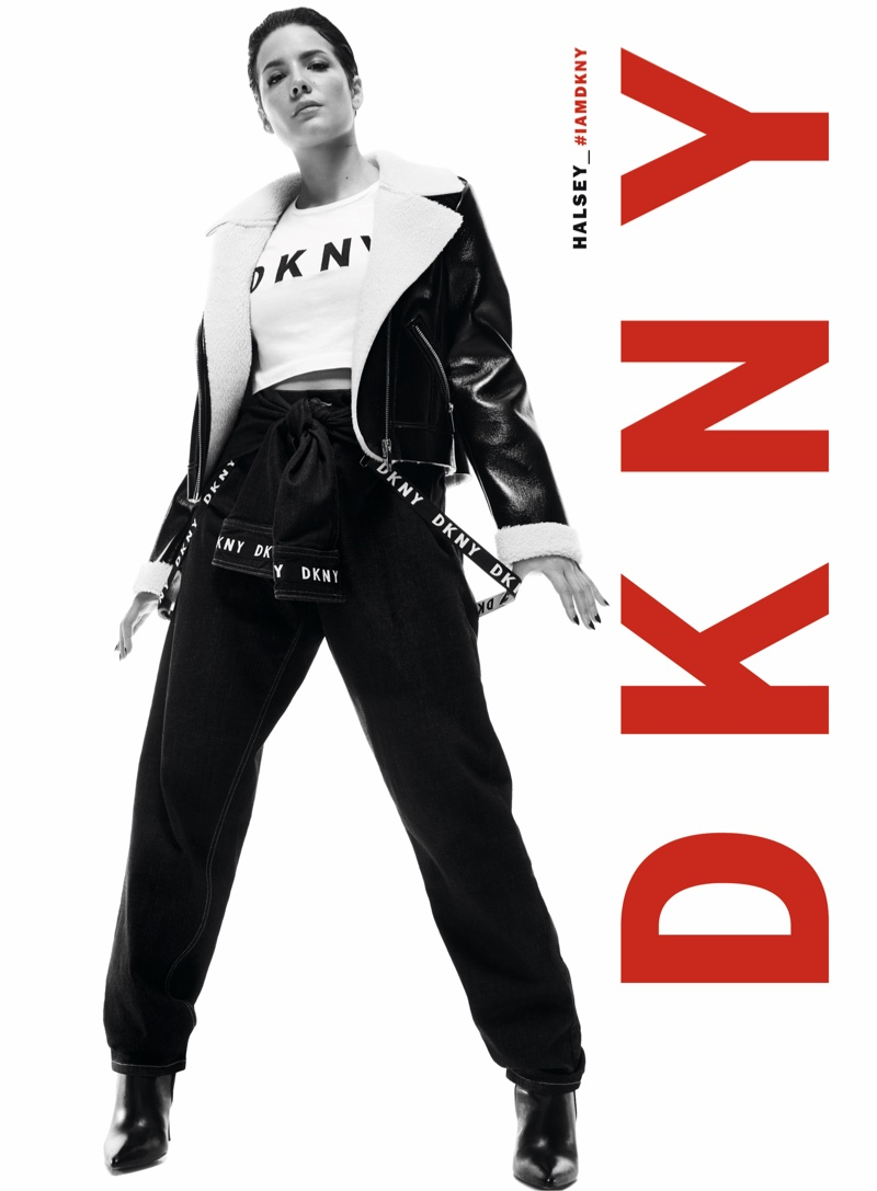 Halsey poses in black and white for DKNY fall-winter 2019 campaign