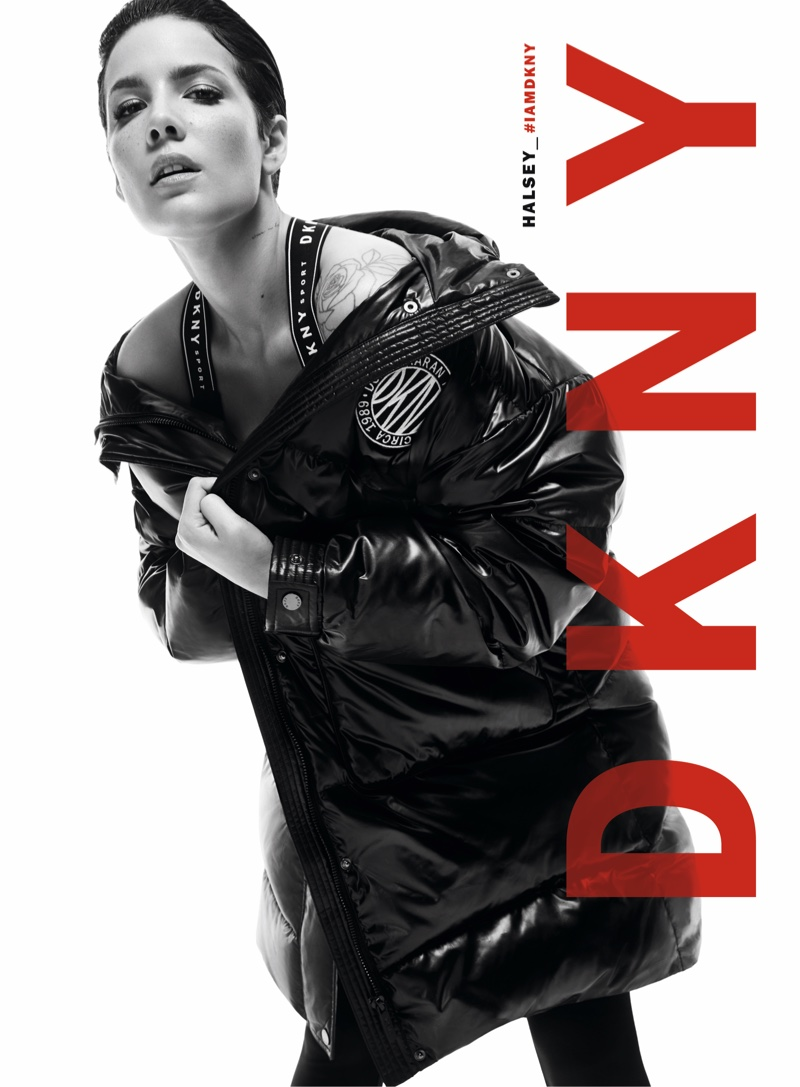 Halsey layers up in DKNY fall-winter 2019 campaign
