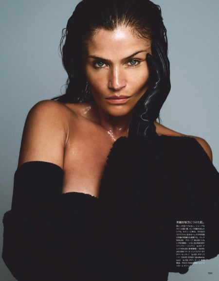 Helena Christensen Stuns for the Pages of Vogue Japan
