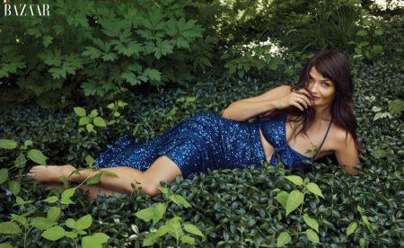 Helena Christensen Takes the Spotlight in Harper's Bazaar
