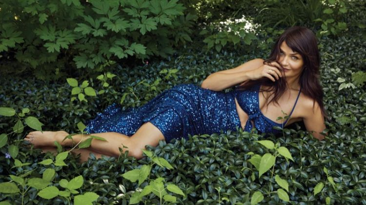 Helena Christensen Takes the Spotlight in Harper's Bazaar