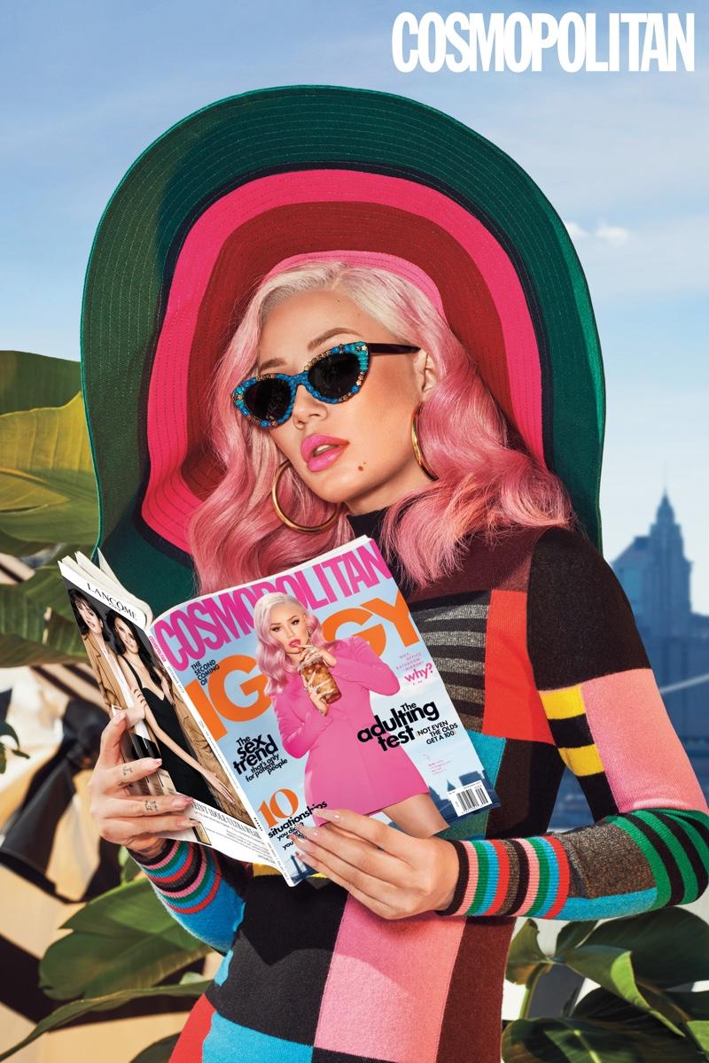 Rapper Iggy Azalea poses for Cosmopolitan