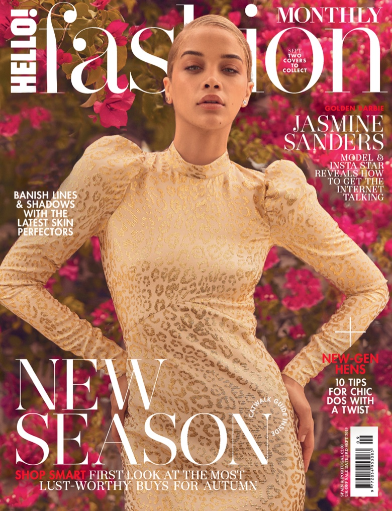 Jasmine Sanders Embraces Autumn Looks for Hello! Fashion