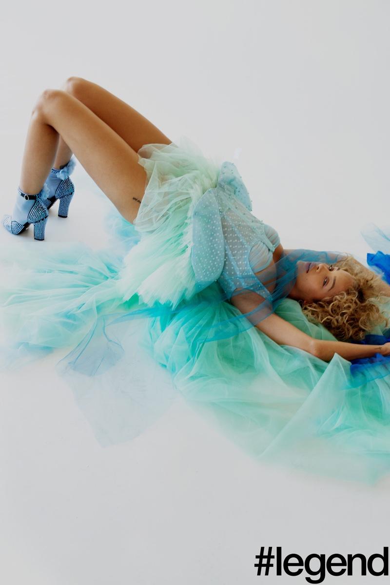 Jasmine Sanders Wears Lingerie Inspired Looks for #Legend Magazine