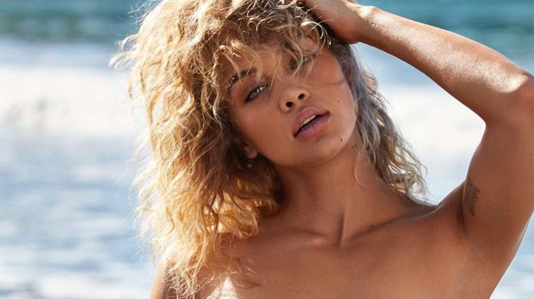 Jasmine Sanders poses for Sports Illustrated: Swimsuit Issue 2019