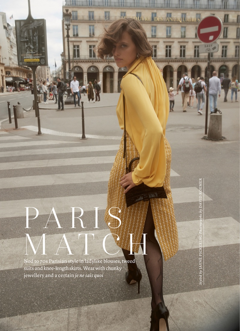 Jip Boxstart Is Parisian Chic for Marie Claire UK