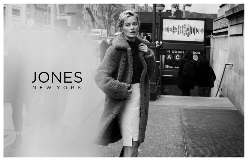 Carolyn Murphy poses in the Big Apple for Jones York fall-winter 2019 campaign