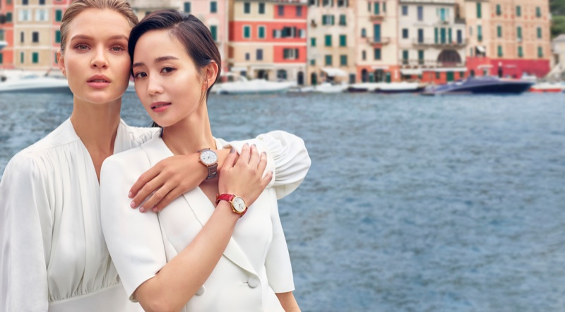 Josephine Skriver and Janine Chang front IWC Portofino Watch campaign