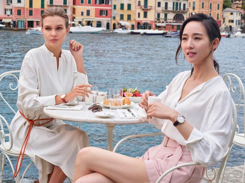 Josephine Skriver and Janine Chang star in IWC Portofino Watch campaign
