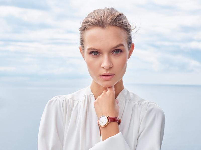 Josephine Skriver is a face of IWC's Portofino Watch campaign
