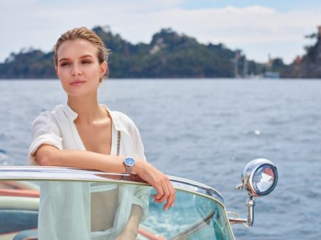 Model Josephine Skriver appears in IWC Portofino Watch campaign