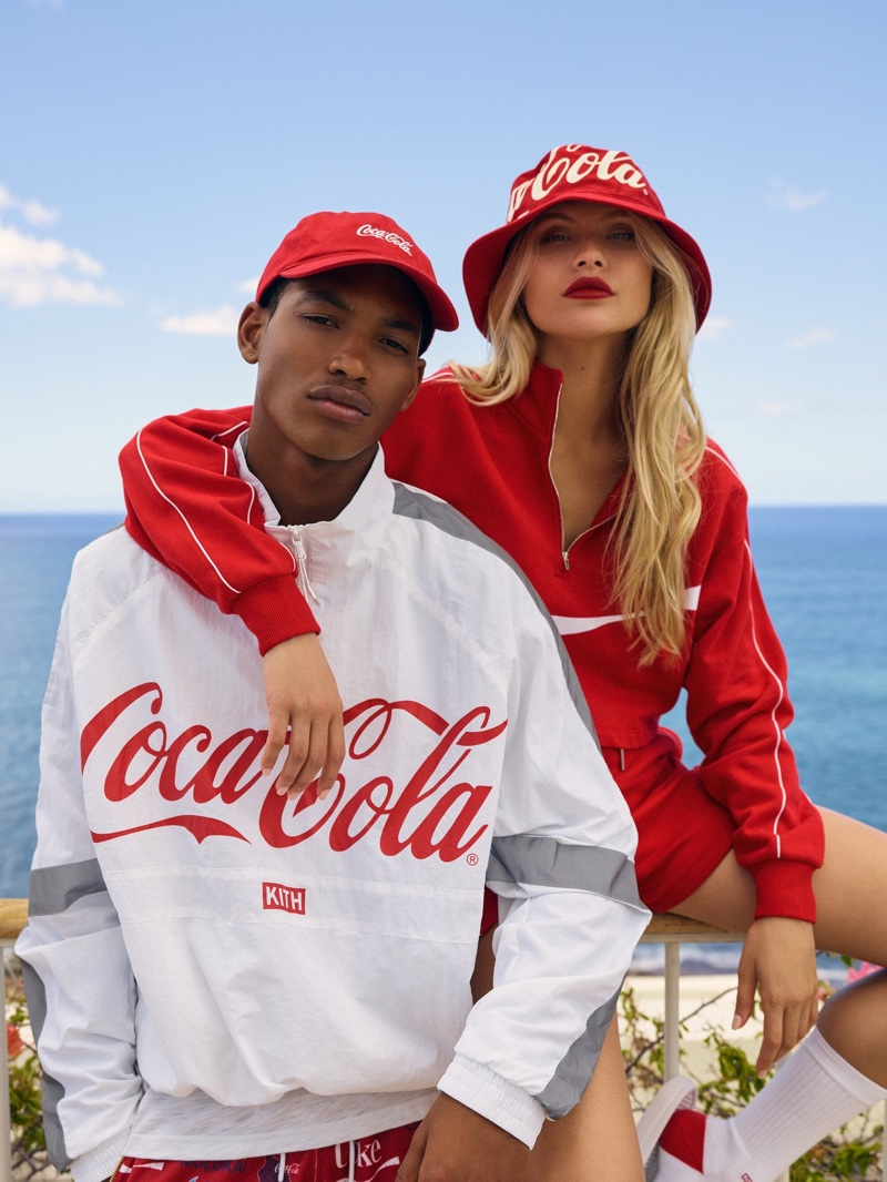 The Kith x Coca-Cola collection focuses on streetwear looks