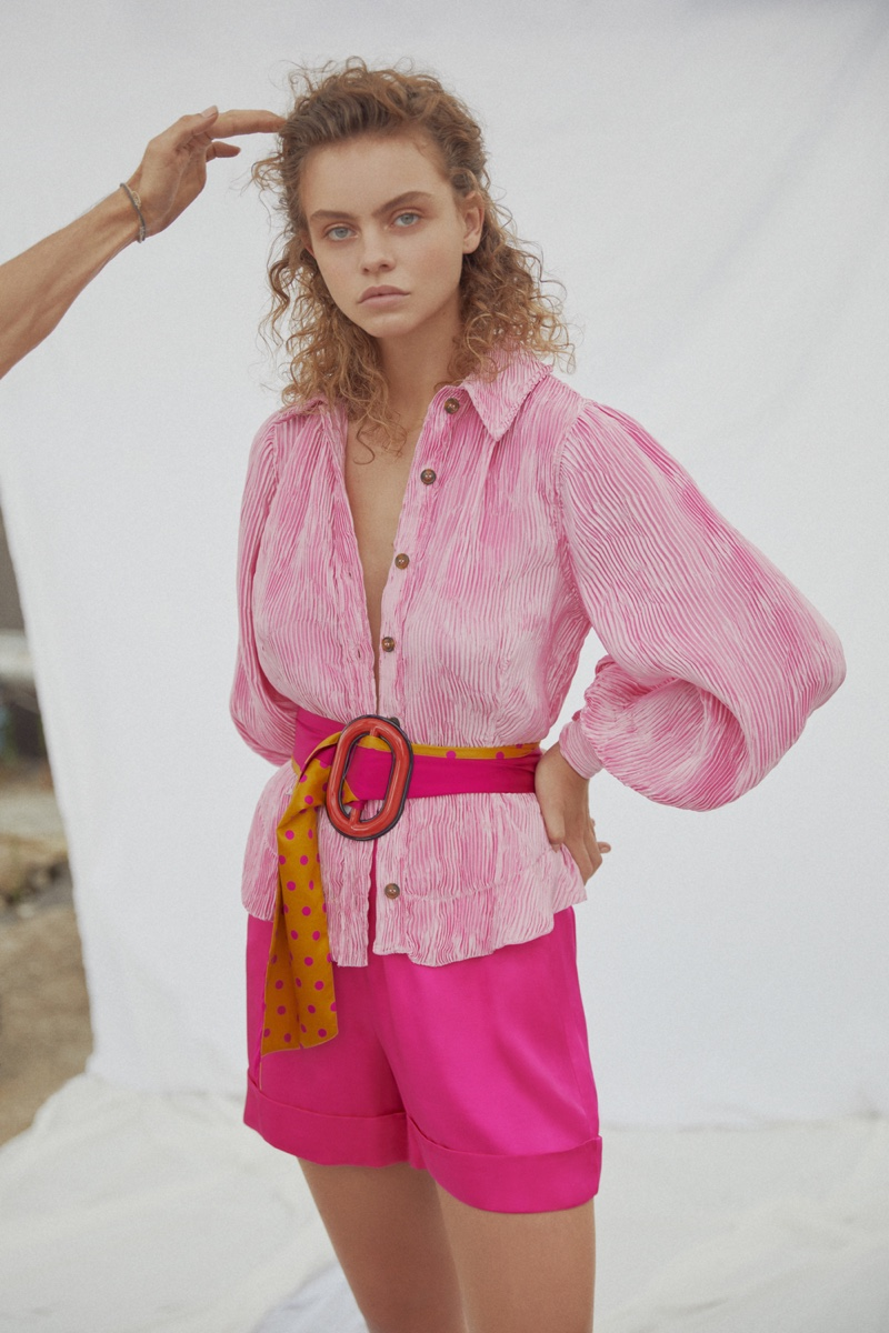 Julia Klaassen Wears Pretty Pastels for Marie Claire Turkey