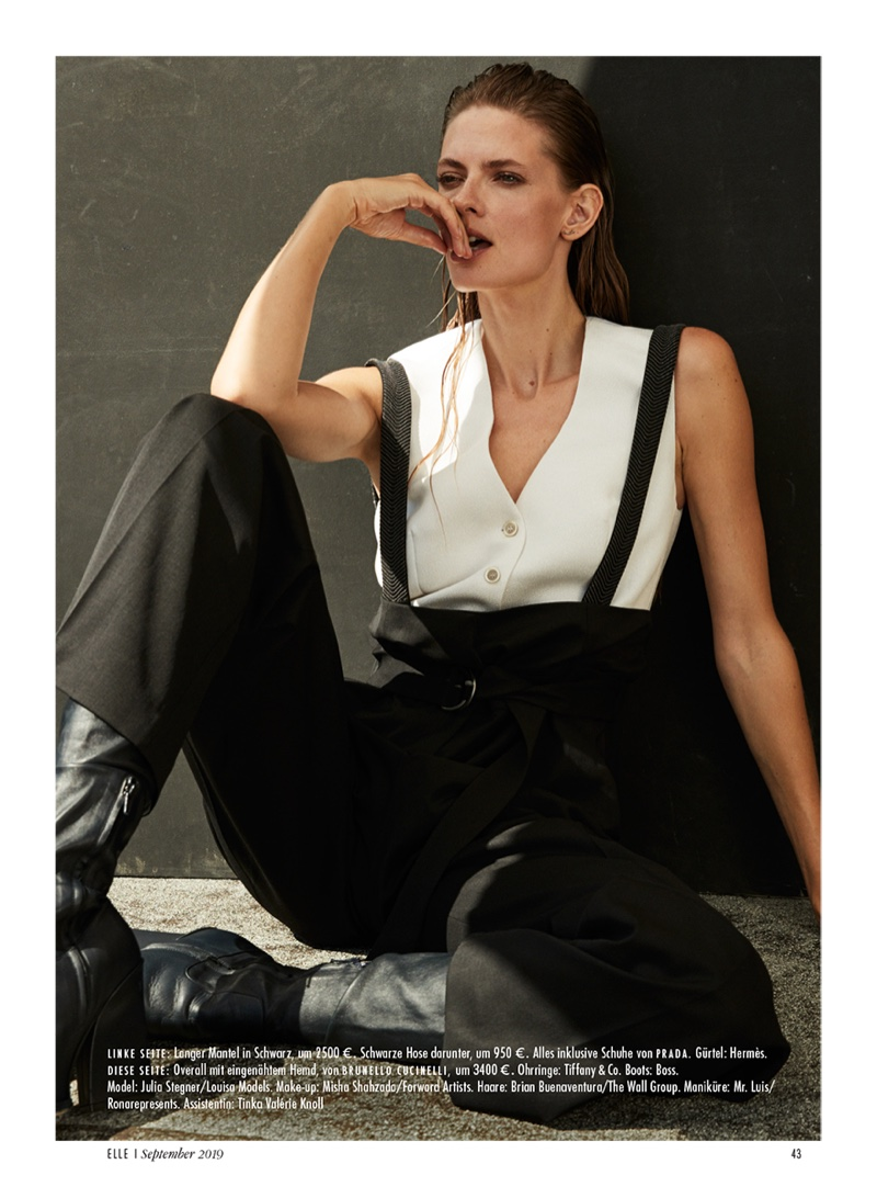 Julia Stegner Channels 90's Fashion for ELLE Germany