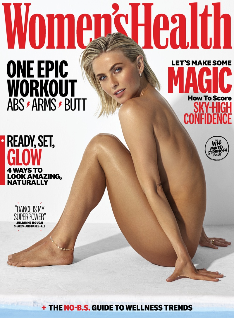 Dancer Julianne Hough poses nude on Women's Health September 2019 Cover