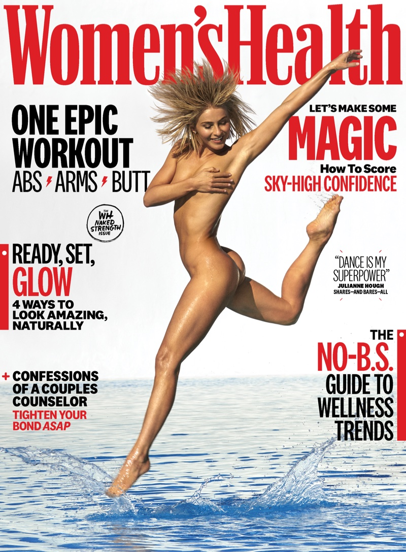 Julianne Hough takes a leap on Women's Health September 2019 Cover