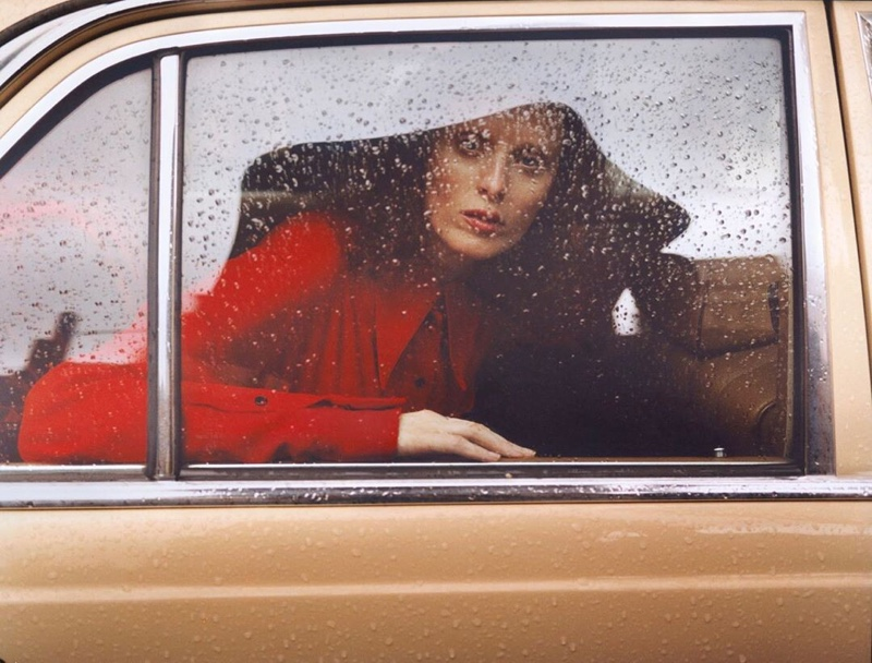 Karen Elson Wears All-Red Looks for Vogue Russia