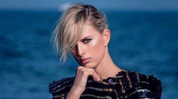 Karolina Kurkova Turns Up the Glam Factor in ELLE Italy