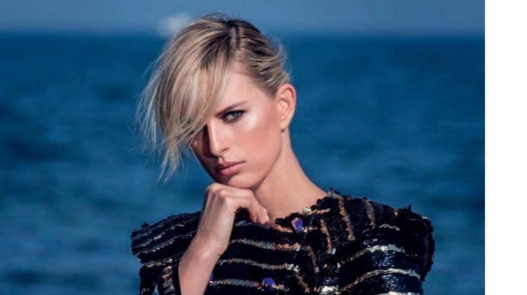 Karolina Kurkova Turns Up the Glam Factor in ELLE Italy