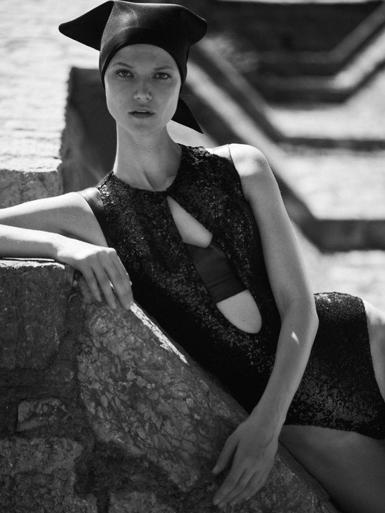 Kasia Struss Models Vacation Ready Looks for Vogue Greece