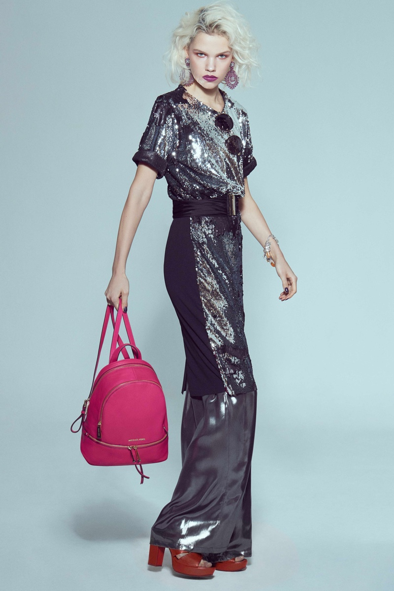 Kate Kina Models 70's Disco Styles for La Vanguardia