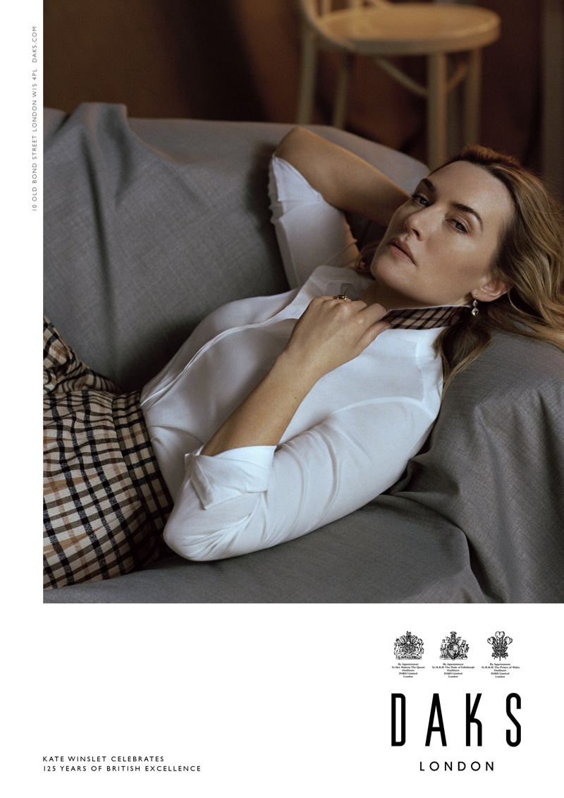 Actress Kate Winslet appears in Daks fall-winter 2019 campaign