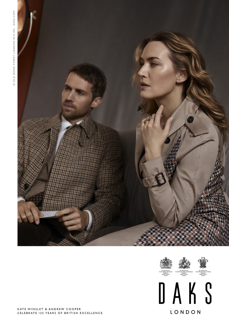 Andrew Cooper and Kate Winslet appear in Daks fall-winter 2019 campaign