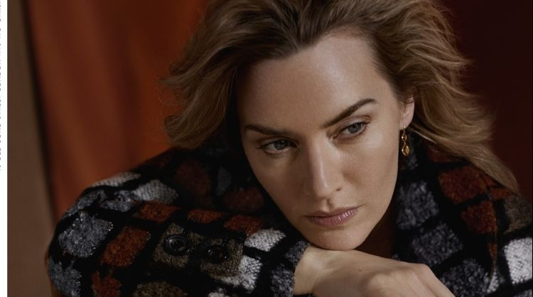 Kate Winslet poses in Daks fall-winter 2019 campaign