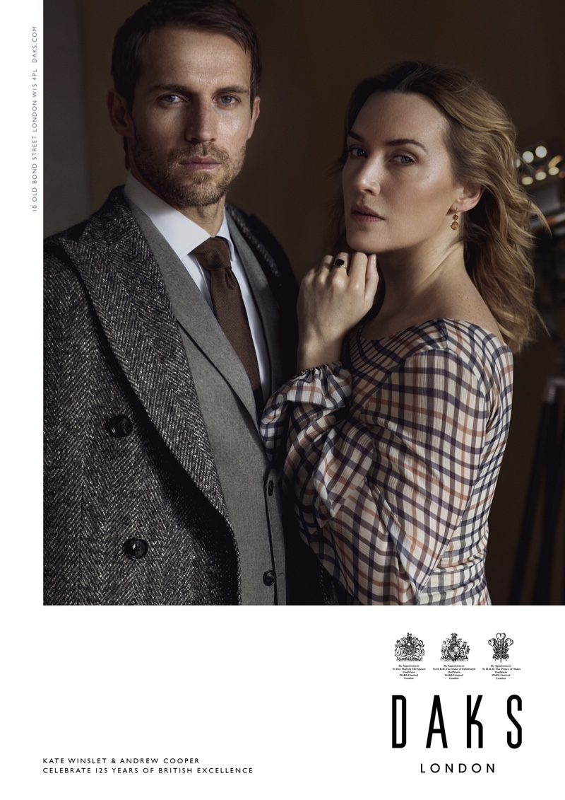 Andrew Cooper and Kate Winslet are the faces of Daks' fall-winter 2019 campaign
