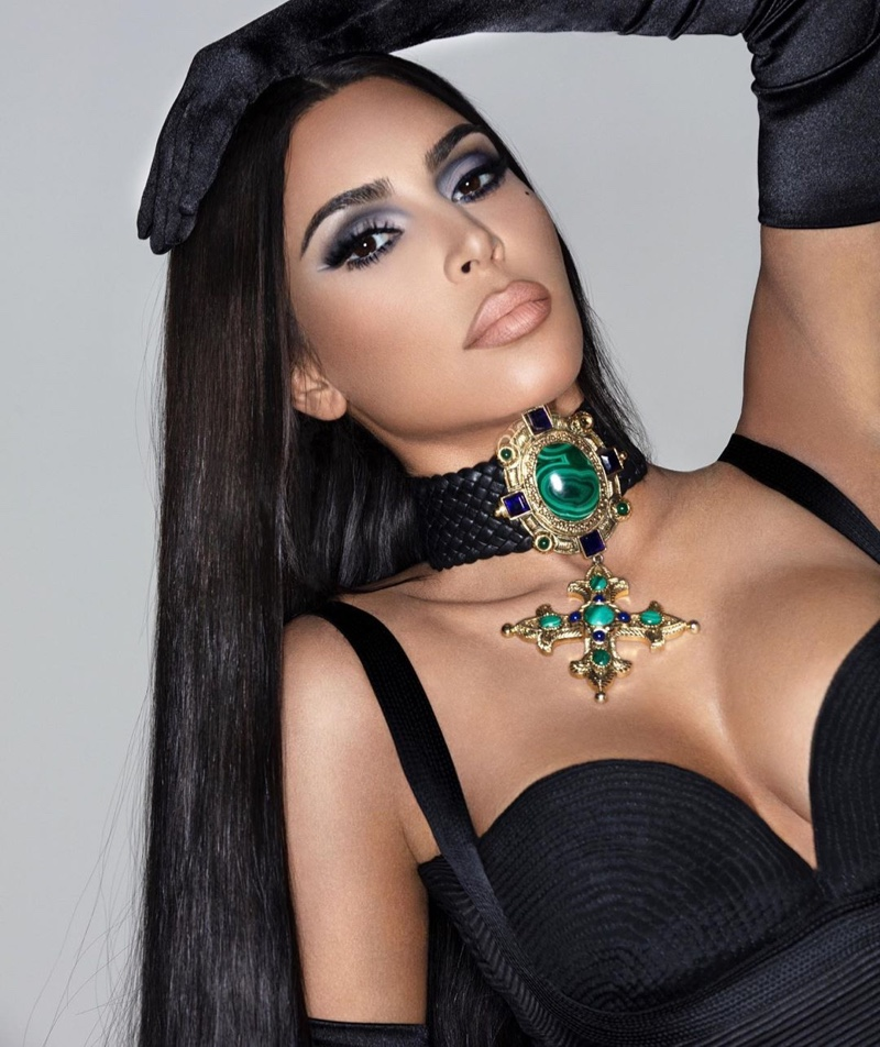 Channeling 90's glam, Kim Kardashian wears smokey eyed look from KKW Beauty Matte Smoke collection