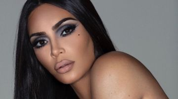 Kim Kardashian channels 90's era makeup for KKW Beauty Mattes campaign