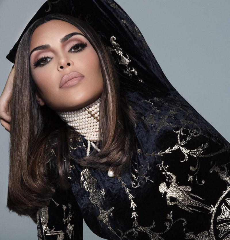 Wearing the Mattes collection, Kim Kardashian fronts KKW Beauty campaign