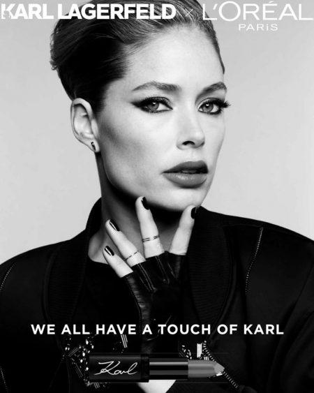 Doutzen Kroes stars in L'Oréal Paris x Karl Lagerfeld makeup campaign