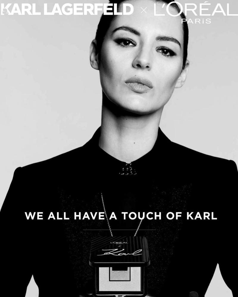 Louise Bourgoin stars in L'Oréal Paris x Karl Lagerfeld makeup campaign